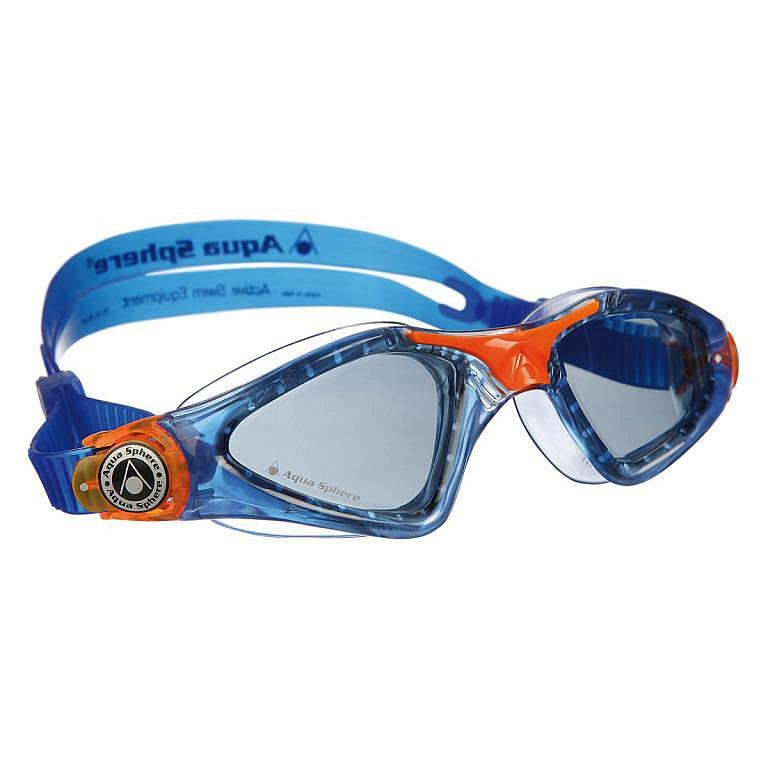 Plavecké okuliare Aqua Sphere KAYENNE JUNIOR tmavý zorník - detské -  modrá oranžová 5765c46a371